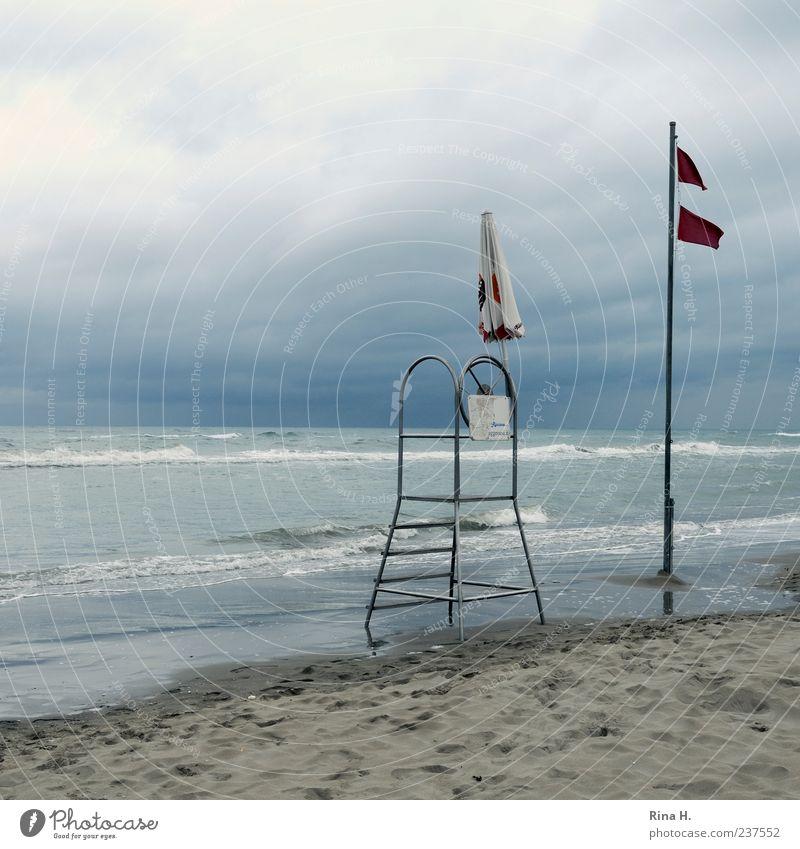 Sturm über der Adria IV blau Wasser Ferien & Urlaub & Reisen Meer Sommer Strand Wolken Ferne Landschaft Küste Freiheit Horizont Wellen Wind wild natürlich