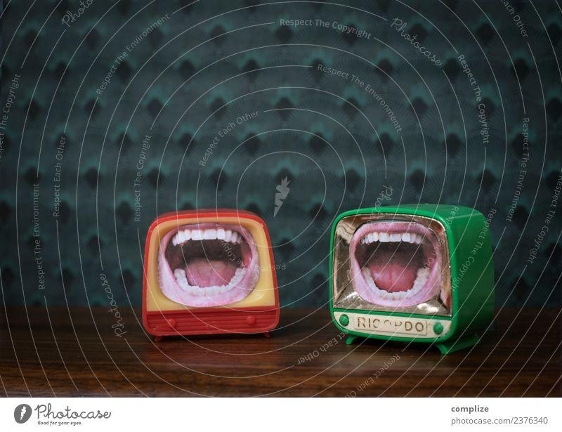 Komik schön Essen Gesundheit sprechen lachen Kunst Lebensmittel Feste & Feiern Zusammensein retro Ernährung Mund Medien Spielzeug Lippen Filmindustrie