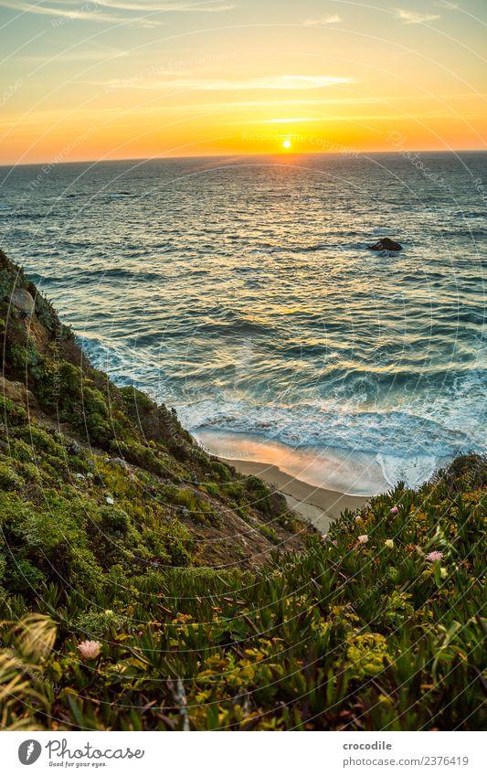 Highway One IV Autobahn Kalifornien Dämmerung Meer Pazifik Küstenstraße Nacht Ferien & Urlaub & Reisen Roadtrip Straße Klippe Sonne Sonnenuntergang Romantik