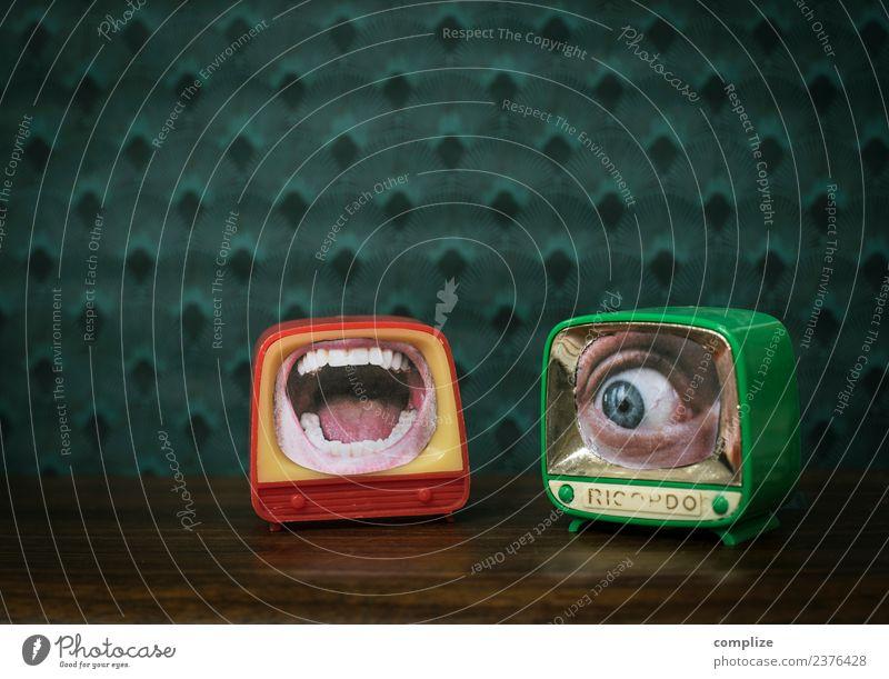 Ausgelacht TV Freude schön Gesundheit Sinnesorgane Nachtleben Party Werbebranche Sitzung sprechen Fernseher Computer Unterhaltungselektronik Auge Mund