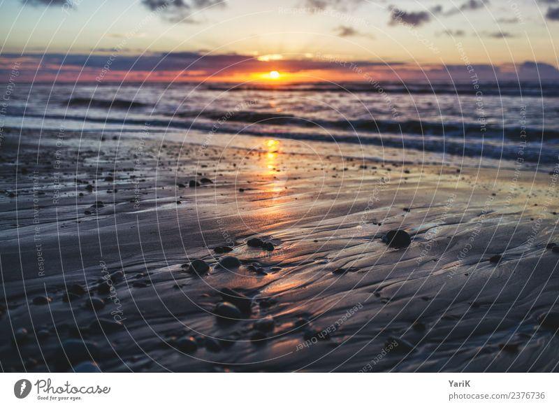 Fernweh Ferien & Urlaub & Reisen Tourismus Ausflug Abenteuer Ferne Freiheit Strand Meer Urelemente Sand Wasser Himmel Sommer Schönes Wetter Wellen Küste