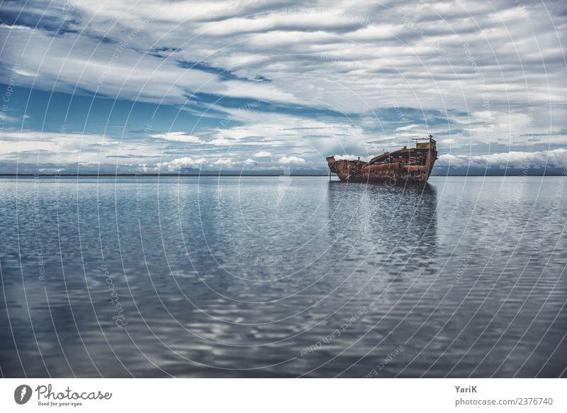 Janie Seddon Shipwreck Himmel Ferien & Urlaub & Reisen Sommer blau Wasser Meer Erholung Einsamkeit ruhig Ferne Küste Zeit Tourismus Freiheit Schwimmen & Baden