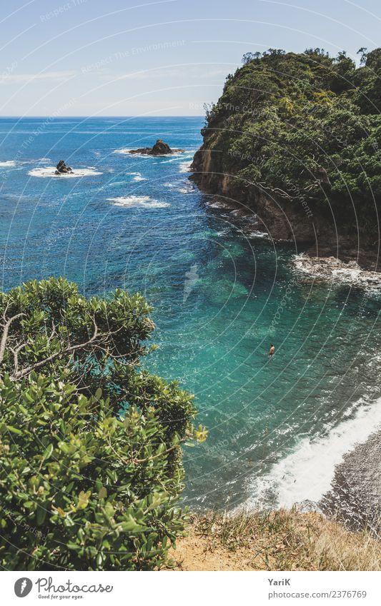 Dream Bay Himmel Ferien & Urlaub & Reisen Sommer blau schön Wasser Sonne Meer Strand Ferne Küste Tourismus Freiheit Ausflug Wellen Insel