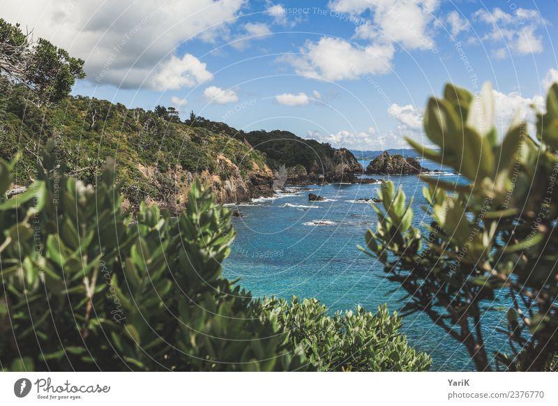 Coastline Himmel Natur Ferien & Urlaub & Reisen Sommer Pflanze schön Wasser Sonne Meer Wolken Strand Ferne Küste Tourismus Freiheit Ausflug