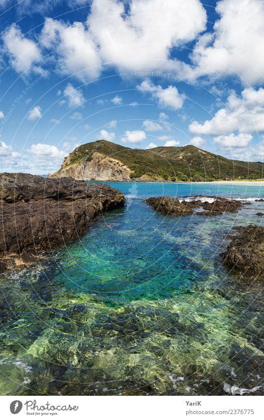 Blue Lagoon Himmel Ferien & Urlaub & Reisen Sommer blau schön Wasser Landschaft Sonne Meer Strand Ferne Küste Tourismus Freiheit Ausflug wild