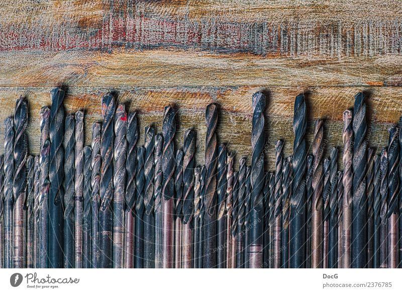 Drill Bits in a line Renovieren Arbeit & Erwerbstätigkeit Handwerker Werkzeug Bohrmaschine Holz Rost bauen drehen Bohrer Bohransätze Spitzen Ansätze Millimeter