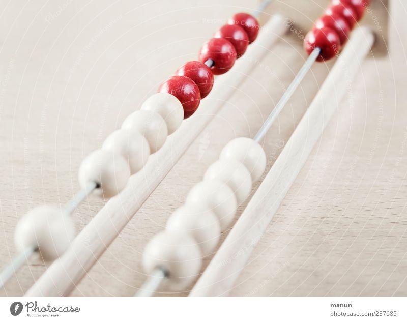 Abakus IV weiß rot Holz hell mehrere lernen authentisch Ziffern & Zahlen Bildung einfach Zeichen Kugel klug Kapitalwirtschaft rechnen zählen