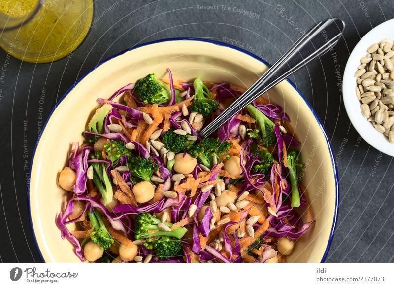 Gesundheit Ernährung frisch kochen & garen Gemüse Mahlzeit Vegetarische Ernährung Salatbeilage horizontal Möhre roh Snack Brokkoli Puls