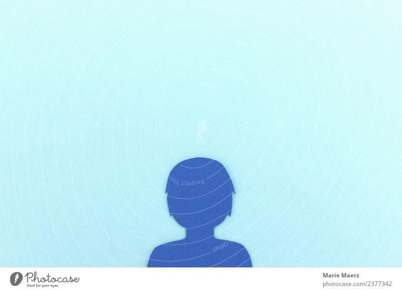 Profil Silhouette - Soziales Netzwerk Nutzer blau Lifestyle feminin klein Kopf Freundschaft modern Kommunizieren Telekommunikation Zukunft Neugier Macht