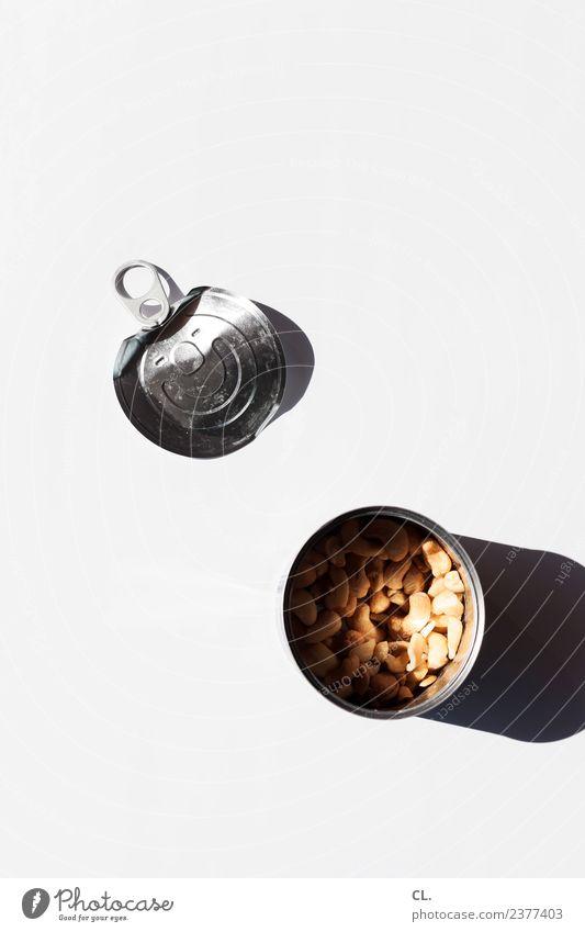 was zur verfügung stand / dose mit nüssen Lebensmittel Nuss Ernährung Essen Verpackung Dose Produkt Metall ästhetisch einfach Gesundheit lecker kaufen sparsam