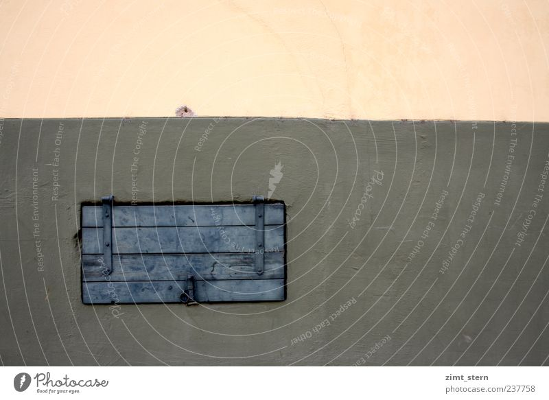 Rechteck- Rätsel blau Wand Holz klein Stein Mauer braun rosa Fassade geschlossen trist streichen fest Symmetrie eckig