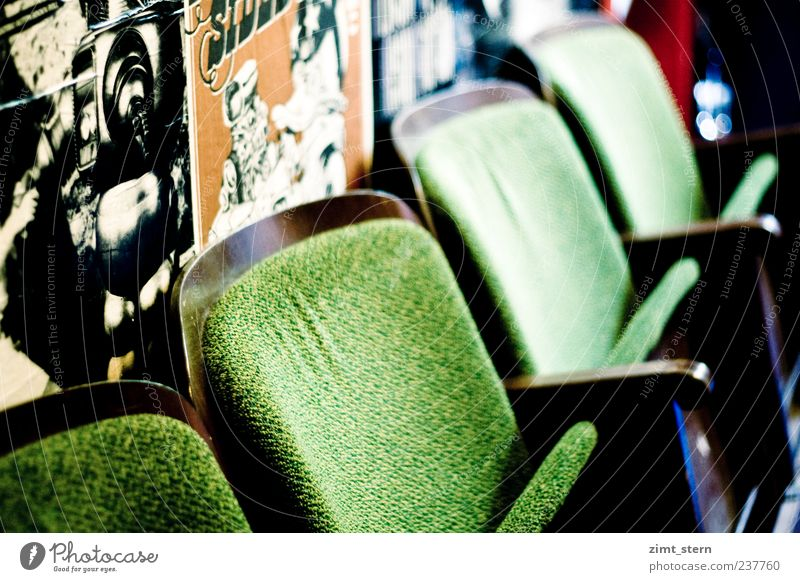 Ganz großes, äh grünes Kino! Holz braun Freizeit & Hobby sitzen ästhetisch retro einzigartig Kultur trashig Plakatwand Kinosessel