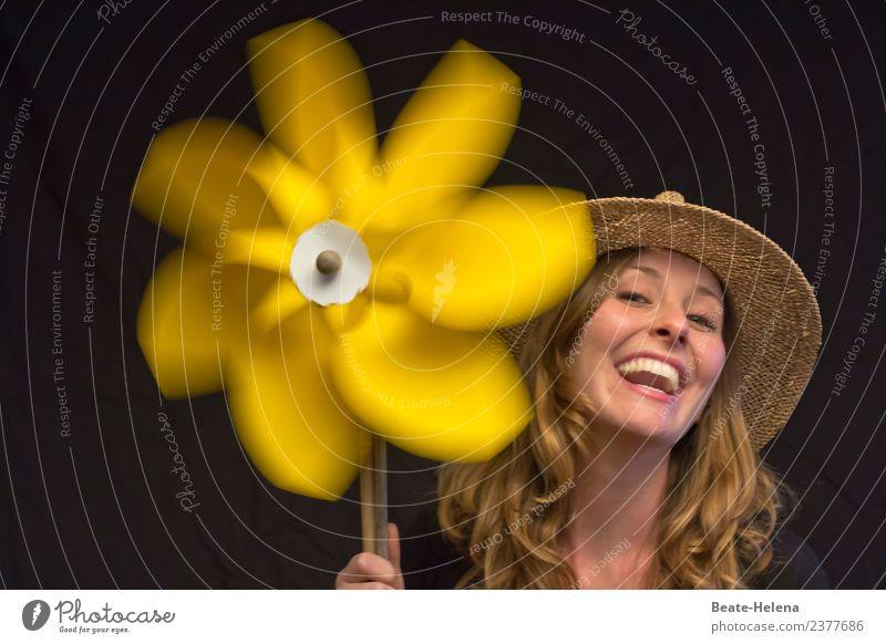 Good Day Sunshine Lifestyle Freude Haare & Frisuren Haut Gesicht Leben Ferien & Urlaub & Reisen Ausflug Sommer Feste & Feiern Junge Frau Jugendliche Hut blond