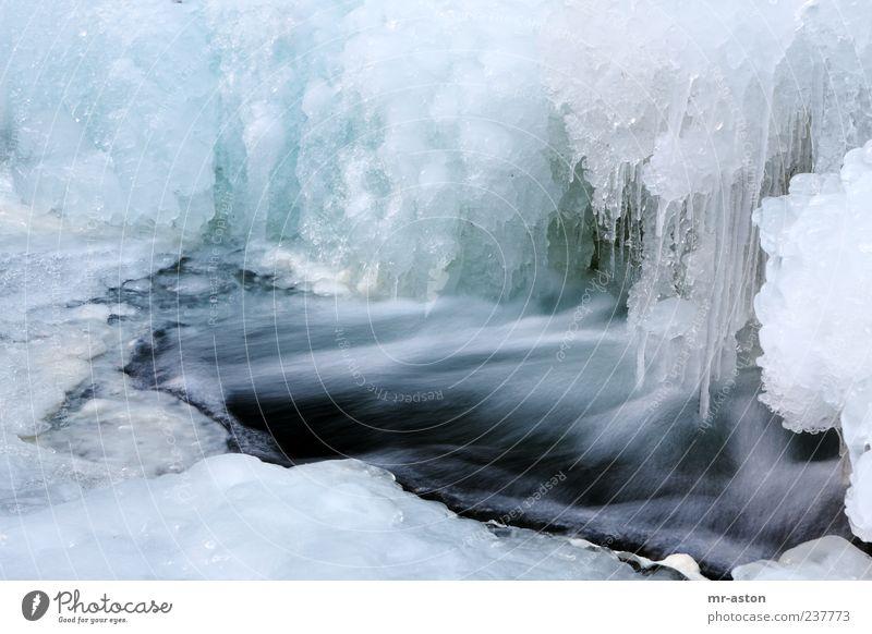 Icy Water Natur blau Wasser weiß Winter Umwelt Landschaft kalt Eis Klima außergewöhnlich nass frisch Frost Urelemente gefroren
