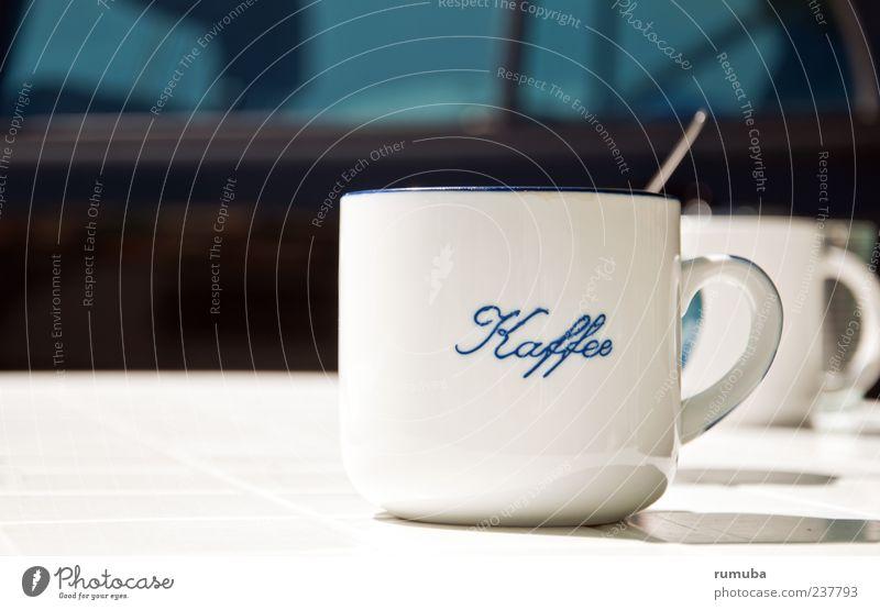 Kaffee-Pause Getränk trinken Heißgetränk Kakao Latte Macchiato Tee Tasse Becher Erholung Schriftzeichen genießen weiß ruhig Durst Kaffeetasse Tragegriff