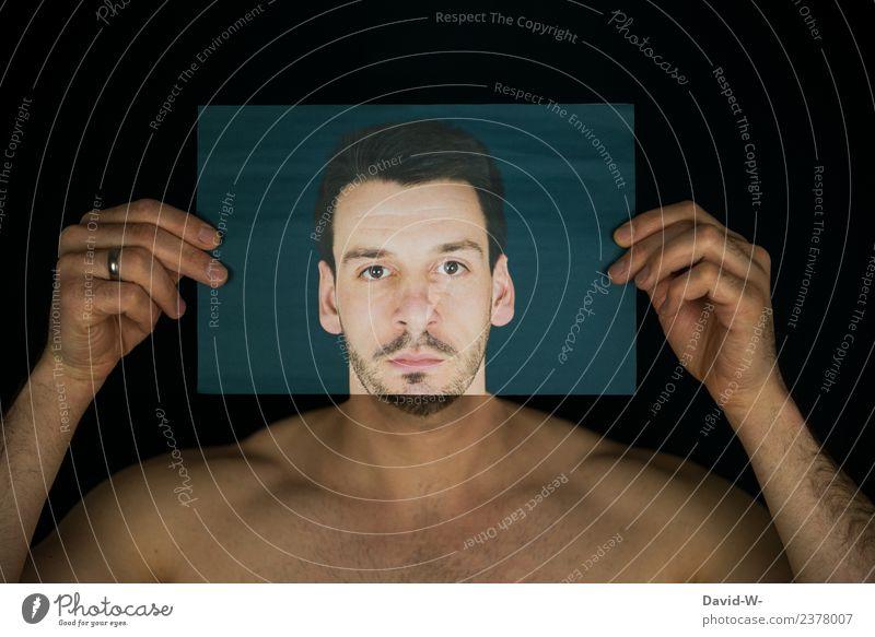 Kopfbedeckung Mensch maskulin Junger Mann Jugendliche Erwachsene Leben Körper Gesicht Auge Nase Mund Hand 1 Kunst Künstler Ausstellung Kunstwerk Gemälde