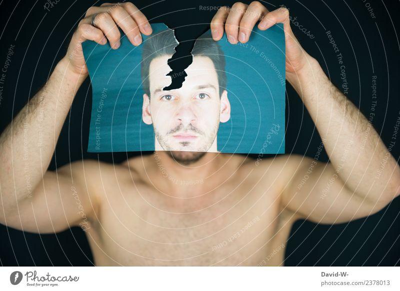 nicht den Kopf verlieren Mensch Jugendliche Mann Junger Mann Gesicht Lifestyle Erwachsene Gesundheit Leben Gesundheitswesen Stil Kunst maskulin Körper elegant