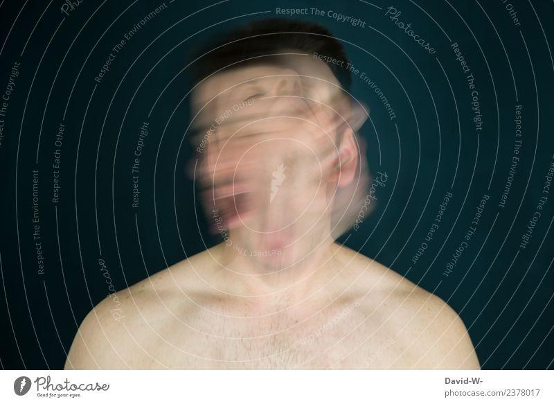 Konzept und Kontext - Schleudertraumer / Schwindelerregend - Mann durcheinader Gesicht Gesundheit Bildung Studium lernen Prüfung & Examen Business Mensch