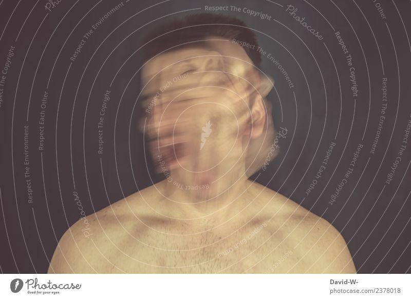 Isolation | macht krank Gesundheit Behandlung Mensch maskulin Junger Mann Jugendliche Erwachsene Leben Körper Kopf Gesicht 1 Kunst Künstler kämpfen bedrohlich