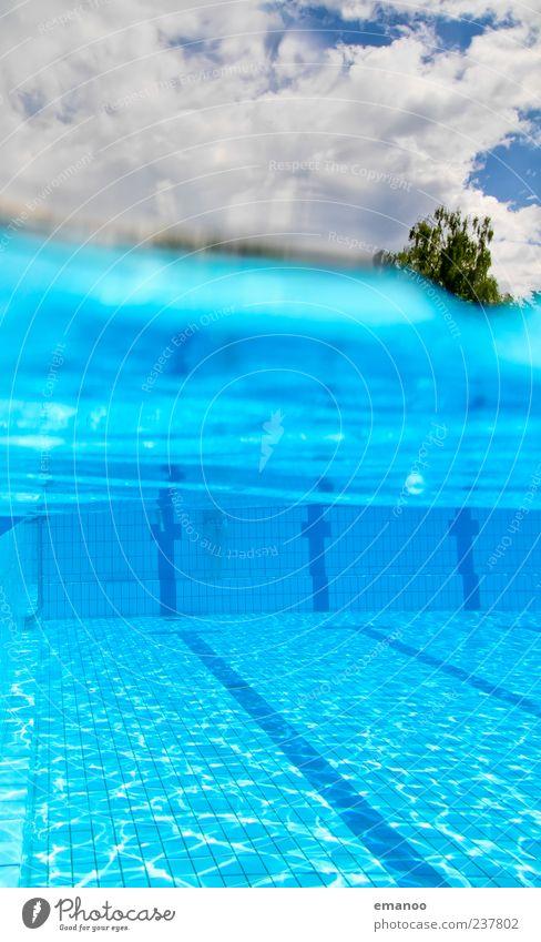 strandbad Himmel blau Wasser schön Baum Sommer Freude Wolken Erholung kalt Leben Luft Wetter Schwimmen & Baden Wellen Freizeit & Hobby