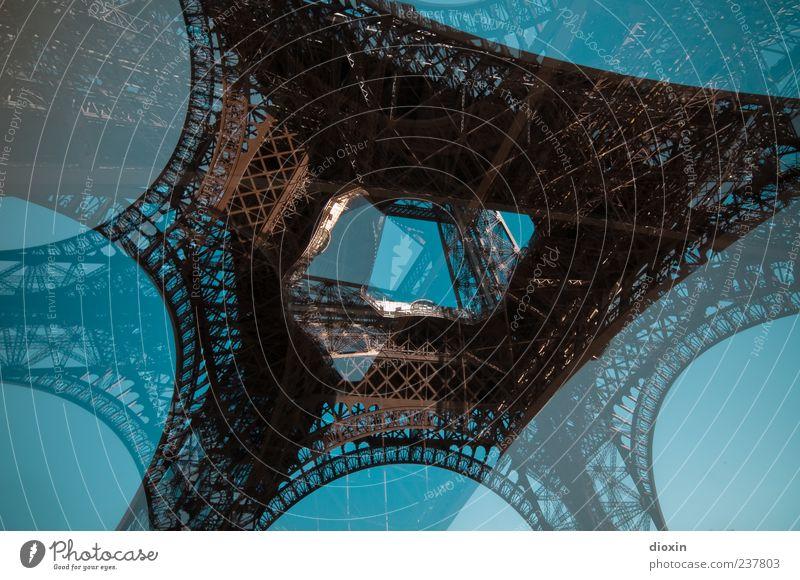 trop d´absinthe Himmel Wolkenloser Himmel Schönes Wetter Paris Frankreich Europa Hauptstadt Stadtzentrum Turm Bauwerk Architektur Sehenswürdigkeit Wahrzeichen