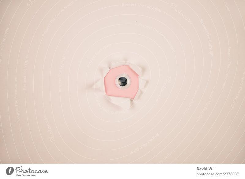 Spion Nr.3 Lifestyle Werbebranche Telekommunikation Business sprechen Mensch Leben Auge 1 Kunst Lupe Fernglas beobachten Voyeurismus geheimnisvoll verheimlichen