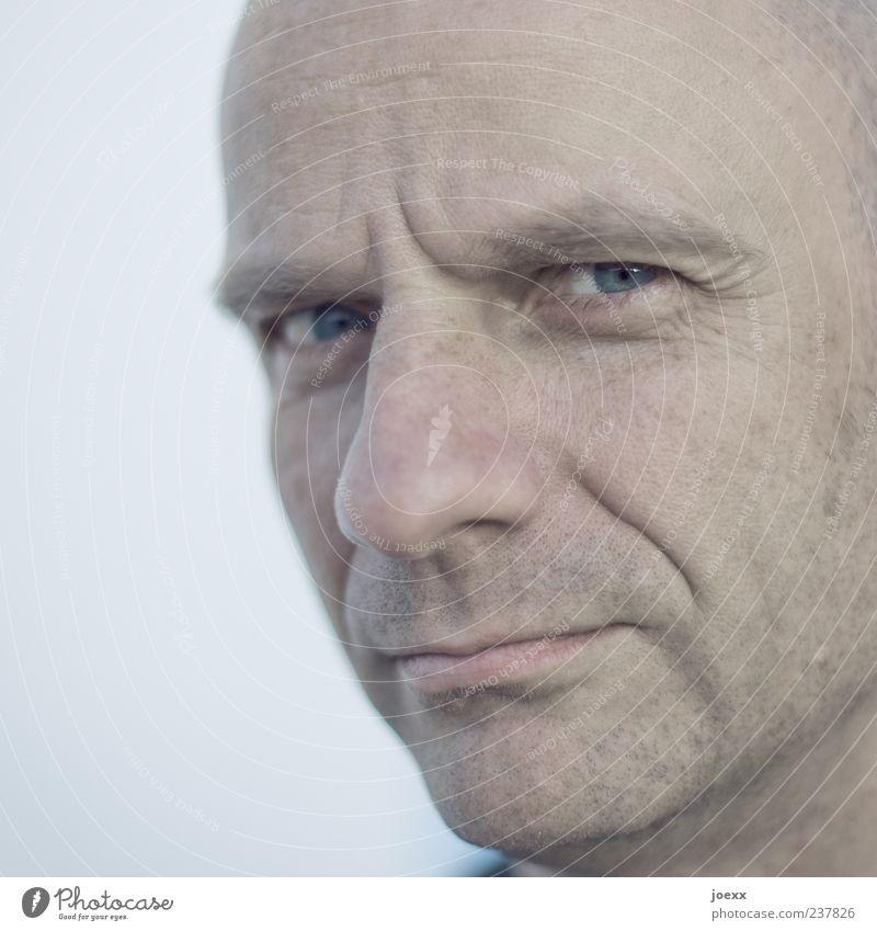 Röntgen Mensch Mann ruhig Gesicht Erwachsene kalt Gefühle Kopf Kraft maskulin nah Vertrauen 45-60 Jahre Mut Ärger Ehrlichkeit