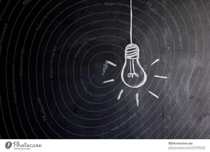 Tafelzeichnung | Glühbirne Kunst leuchten hell Idee innovativ Inspiration Zeichnung Kreide Lampe gemalt Entwurf Grafik u. Illustration Kreativität dunkel