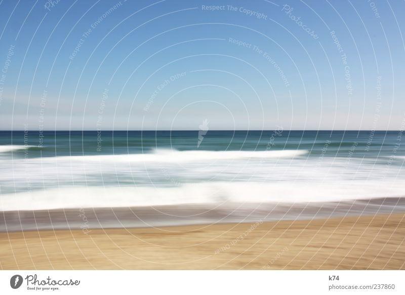 shore II Himmel Natur blau Wasser Meer ruhig Ferne Umwelt Landschaft Bewegung Küste Freiheit Luft Horizont Wellen Schönes Wetter
