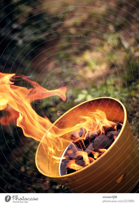 the yellow one. Sommer gelb Wärme Feuer Kochen & Garen & Backen heiß Grillen Wildnis Eimer Kohle Mahlzeit zubereiten Rohstoffe & Kraftstoffe feurig explosiv