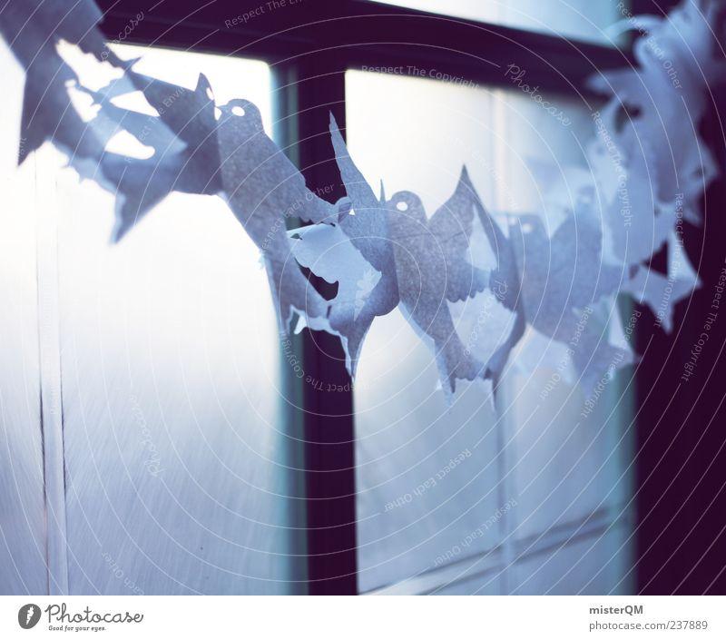 Big Days. Kunst ästhetisch Dekoration & Verzierung Ritual Fenster Taube friedlich festlich Freude Momentaufnahme Zeremonie außergewöhnlich Zukunft Farbfoto