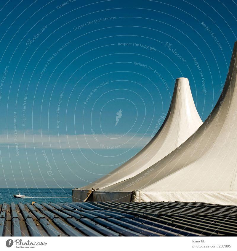 SummerFeeling Himmel blau Wasser Ferien & Urlaub & Reisen Meer Sommer Strand Freude Erholung Horizont Ausflug Tourismus Dach Lifestyle Schönes Wetter Ostsee