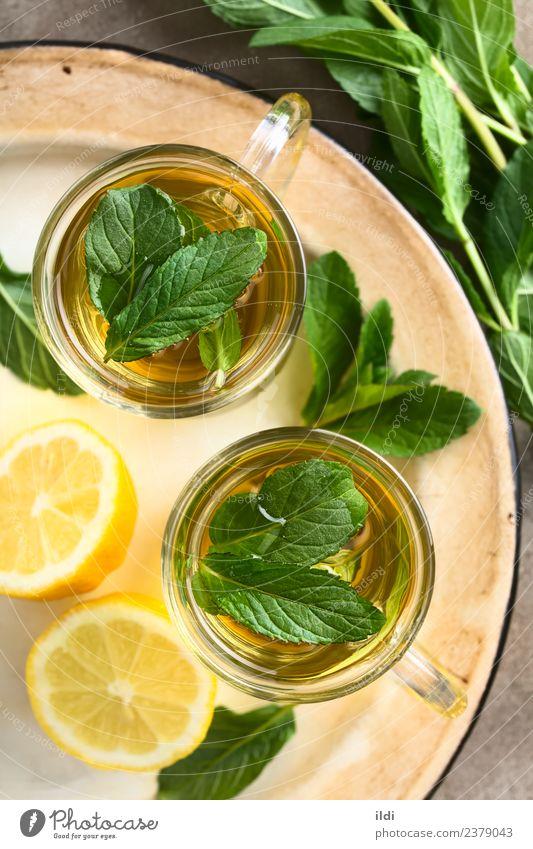 Frischer Minze Kräutertee Kräuter & Gewürze Getränk Tee frisch natürlich Kräuterbuch trinken Erfrischung Krause Minze aromatisch Abhilfe Medizin Geschmack