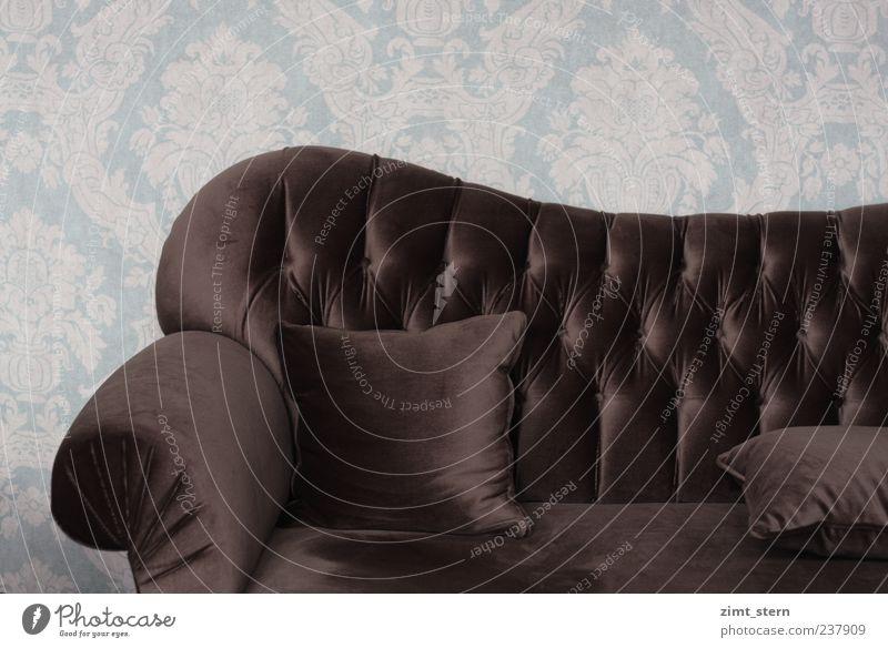 Edel.Sitz.Platz ruhig Einsamkeit Erholung Stil braun Zufriedenheit Wohnung Design ästhetisch Innenarchitektur retro Dekoration & Verzierung weich Kitsch Sofa