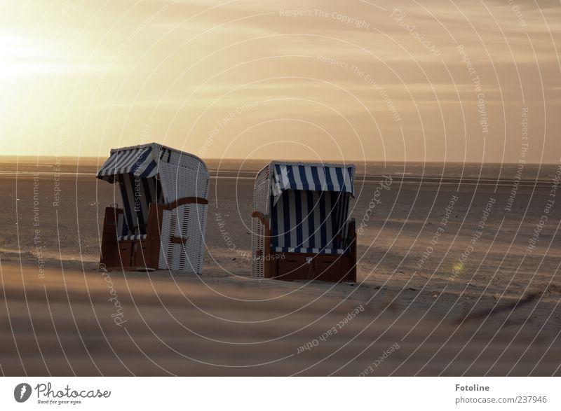Spiekeroog | Ein Hauch Gemütlichkeit Himmel Natur Ferien & Urlaub & Reisen Strand Wolken Ferne Umwelt Wärme Küste Freiheit hell Horizont natürlich nah Nordsee