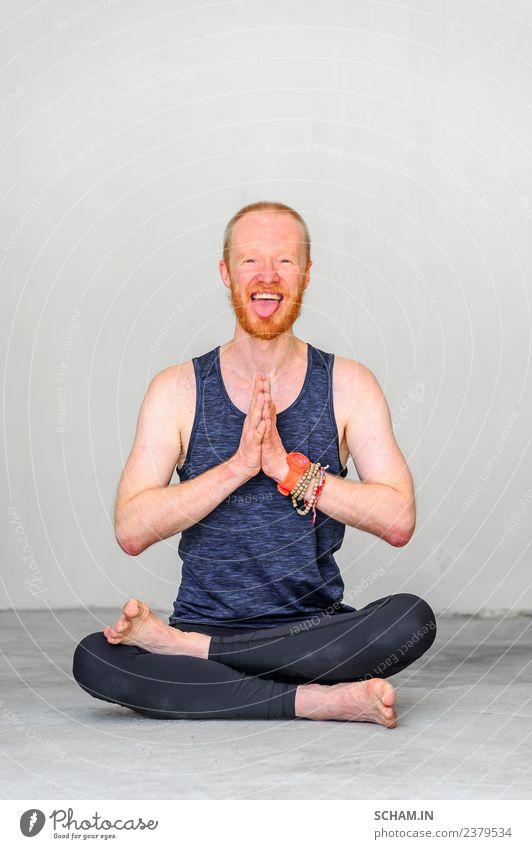 Glückliche Yogalehrerin Lifestyle Erholung Sport Mann Erwachsene sitzen einzigartig Identität Yin Yang Yoga Ausbildung Nur für Erwachsene Gleichgewicht