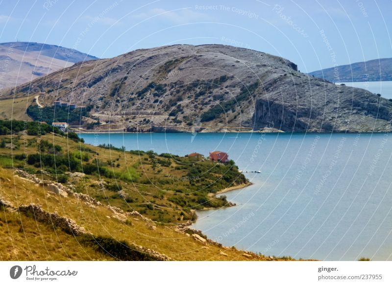 Vorfreude Umwelt Natur Landschaft Wasser Himmel Wolken Sommer Schönes Wetter Berge u. Gebirge Gipfel Küste Meer Stimmung Kroatien Insel Mittelmeer karg steil