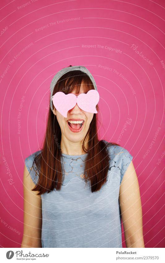 #A# rosarote Brille Kunst ästhetisch Verliebtheit Liebe Liebeserklärung Liebesbekundung Liebesgruß Liebesbeziehung Auge herzförmig Frau feminin lachen Freude