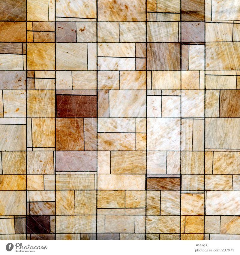 Odd One Out alt Wand Stil Stein Mauer Linie Design verrückt Ordnung einzigartig außergewöhnlich Doppelbelichtung eckig Mosaik