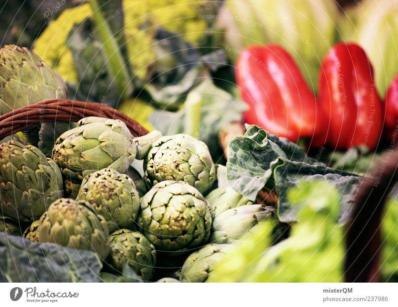 Markttag. Natur grün rot Ernährung Frucht frisch ästhetisch viele Gesunde Ernährung Gemüse Ernte Sammlung Handel Markt Korb Vitamin