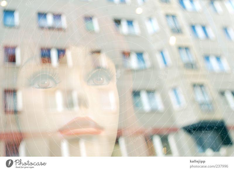 heart of glas Mensch feminin Frau Erwachsene Haut Kopf Haare & Frisuren Gesicht 1 Mauer Wand Fassade Fenster Blick Puppe Schaufensterpuppe Lippen Mund künstlich