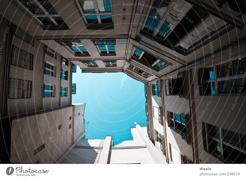 Der Himmel über Paris alt Ferien & Urlaub & Reisen Haus Fenster Wand Architektur Mauer Gebäude Fassade Tourismus authentisch Europa Schönes Wetter Bauwerk