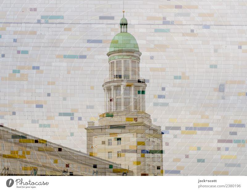Frankfurter Tor im Muster Stil Architektur Friedrichshain Turm Dekoration & Verzierung Fliesen u. Kacheln Linie Mosaik außergewöhnlich eckig groß retro
