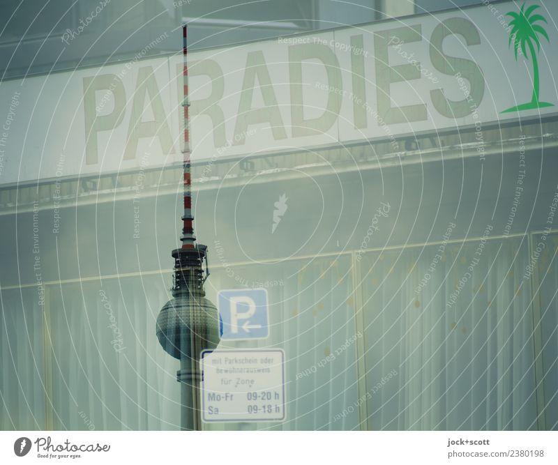 Paradies parken Lifestyle Sightseeing Städtereise Nachtleben Club Disco Berlin-Mitte Sehenswürdigkeit Wahrzeichen Berliner Fernsehturm Parkplatz