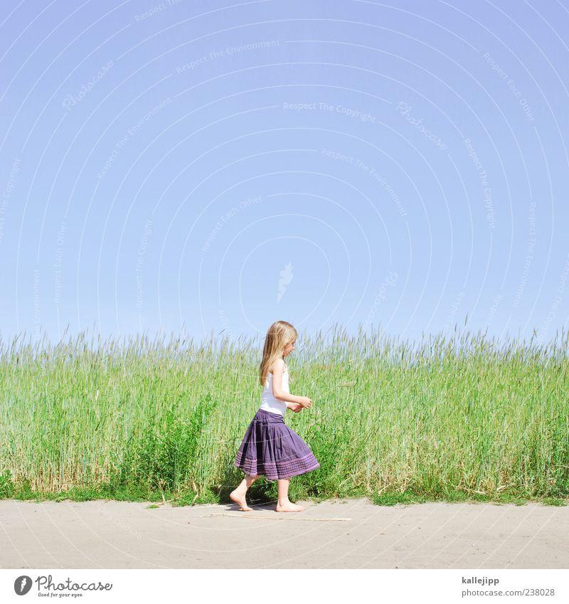 landluft Lifestyle Freude Glück Freizeit & Hobby Spielen Mensch Mädchen Leben 1 8-13 Jahre Kind Kindheit Umwelt Natur Landschaft Pflanze Erde Sand Himmel