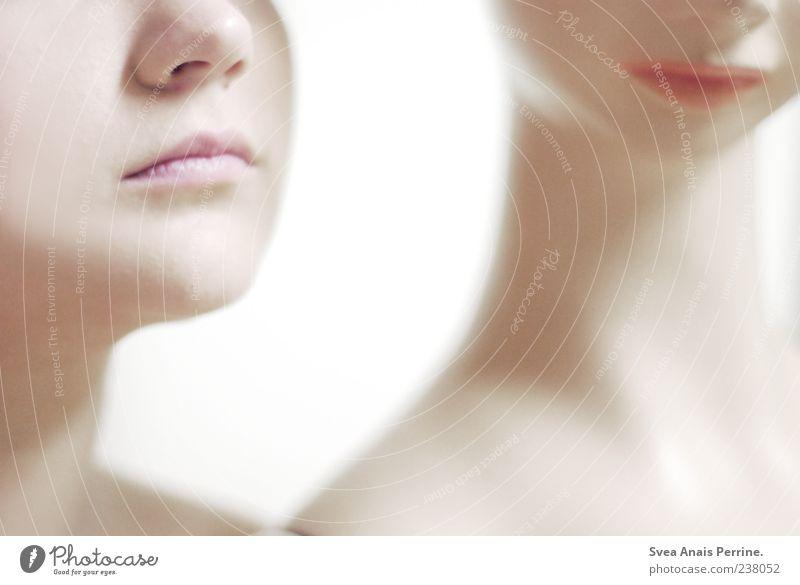 Puppen? elegant feminin Junge Frau Jugendliche Nase Mund Lippen Hals 2 Mensch 18-30 Jahre Erwachsene dünn weich einzigartig zart Schaufensterpuppe Farbfoto