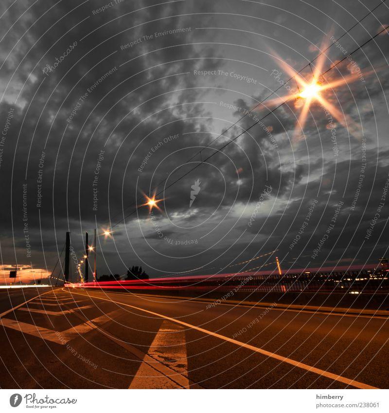 starlight express Stadt Straße dunkel Wege & Pfade grau Energiewirtschaft Verkehr Geschwindigkeit Brücke Zukunft fahren Güterverkehr & Logistik Wissenschaften