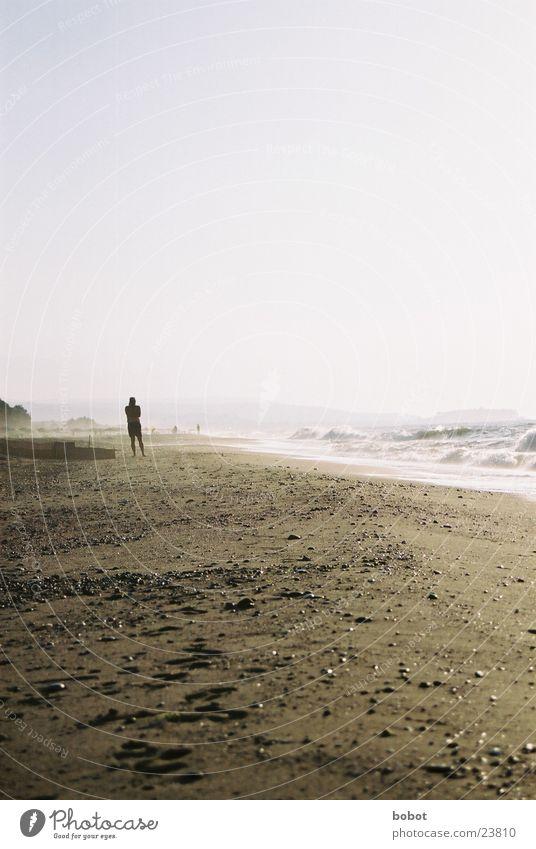 Brandung Himmel Sonne Meer Strand Ferien & Urlaub & Reisen Wärme Sand Küste Europa Physik heiß Gelassenheit Meerwasser
