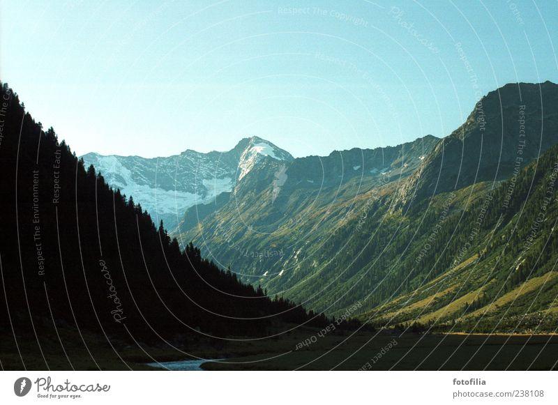 analoge alpen Ferien & Urlaub & Reisen Ausflug Ferne Freiheit Sommer Sommerurlaub Berge u. Gebirge Umwelt Natur Landschaft Himmel Wolkenloser Himmel