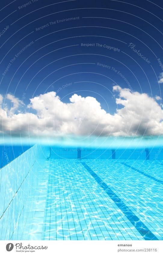 Himmelbad Natur blau Wasser schön Ferien & Urlaub & Reisen Sommer Freude Wolken kalt Leben Sport Luft Horizont Wetter Schwimmen & Baden